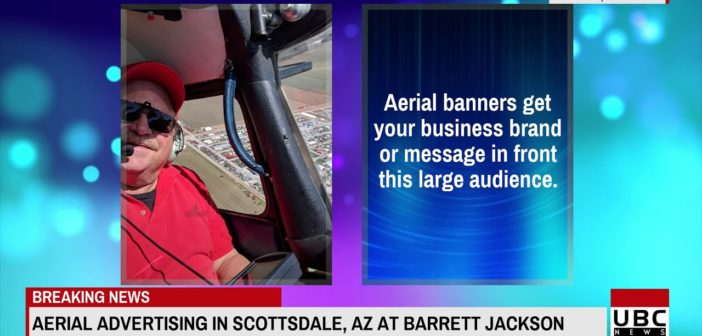 Aerial Banner Advertising in Scottsdale AZ at Barrett Jacks 15 Jan 2019