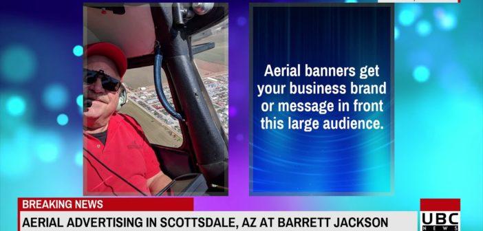 Aerial Banner Advertising in Scottsdale AZ at Barrett Jacks 15 Jan 2019